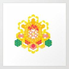 Yellow Lotus Rose Art Print