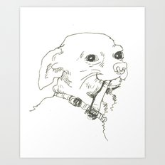 Ole Doggo Art Print