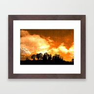 Mystical Hill Framed Art Print