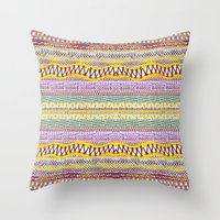 Connecting Stitches Throw Pillow