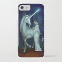 unicorn iPhone & iPod Cases featuring Unicorn by Egberto Fuentes