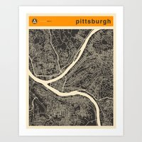 PITTSBURGH Map Art Print