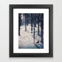 The Raven Who Stole My H… Framed Art Print
