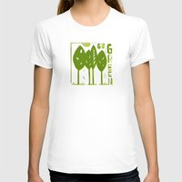 Go Green Womens Fitted Tee White SMALL