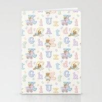 Teddy Bear Alphabet ABC's Stationery Cards