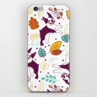 Happy Fall, Dogs! (Boston) iPhone & iPod Skin