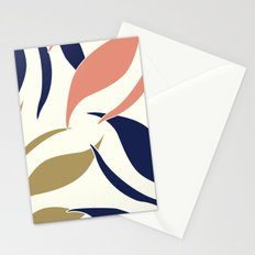 Coral and Blue Design Stationery Cards