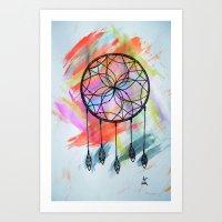 Catching Paint - Dream Catcher Art Print