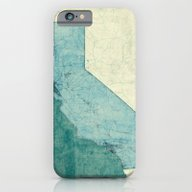 California Map Blue Vint… iPhone 6 Slim Case