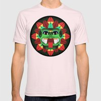 Quetzalcoatl Mens Fitted Tee Light Pink SMALL