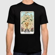 PIZZA READING Mens Fitted Tee Black SMALL