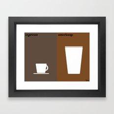 le café Framed Art Print