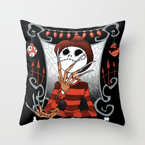 Nightmare King Throw Pillow