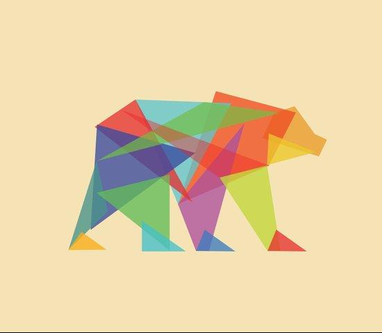 Fractal Geometric bear Canvas Print