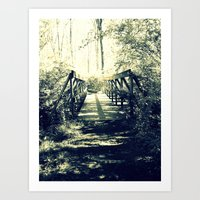Shadow Bridge Art Print