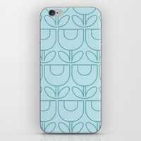 MCM Tulip Outline in Aqua iPhone & iPod Skin