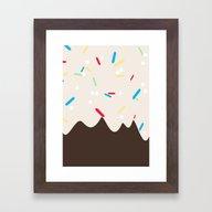 Hot Chocolate With Whipp… Framed Art Print