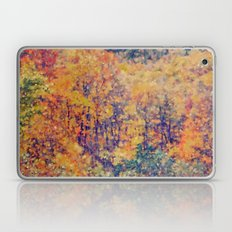 Autumn Woods Abstract -- Colorful Foliage Laptop & iPad Skin