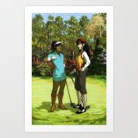 Korrasami - The Fabulous Golf Duo Art Print