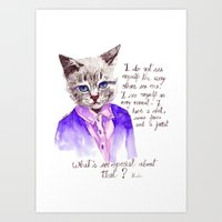 Fashion Mr. Cat Karl Lag… Art Print