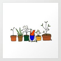 Plant pots Art Print