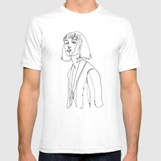 minimal drawing  Mens Fitted Tee SMALL White
