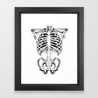 Skeleton #1 Framed Art Print