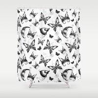 Butterflies in Flight 2 Shower Curtain