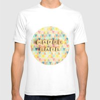 Happy Days Mens Fitted Tee White SMALL