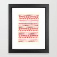 Winter Stripe II Framed Art Print