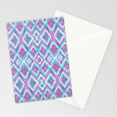 Aqua Berry Ikat Stationery Cards