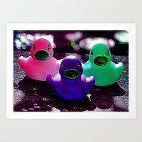 Squeaky duck Art Print