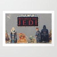 Retro Star Wars Crew! Art Print