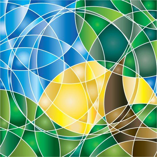 Mosaic Sunrise Art Print