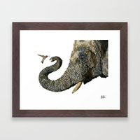 Elephant Cyril And Hummi… Framed Art Print