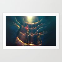 hearts Art Prints featuring Someday by Alice X. Zhang