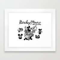 Binckey Mouse Framed Art Print