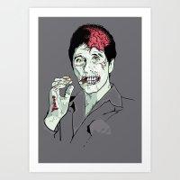 Zombie Al Pacino Scarface  Art Print