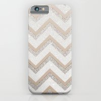 iPhone Cases featuring NUDE CHEVRON by Monika Strigel