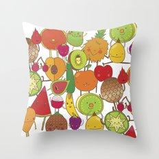 Veggies Fruits Throw Pillow