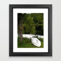 At The Pond Framed Art Print