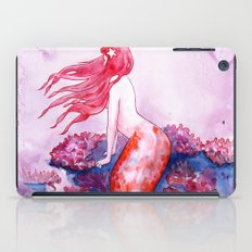 Red Coral Mermaid iPad Case
