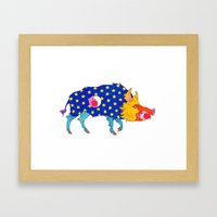Fashion Animals, Spring 2014 Collection: Porc Sauvage Patriotique Framed Art Print