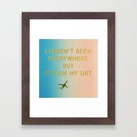 My List Framed Art Print