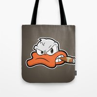 Smoking Duck Tote Bag