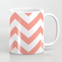 CORAL CHEVRON Mug