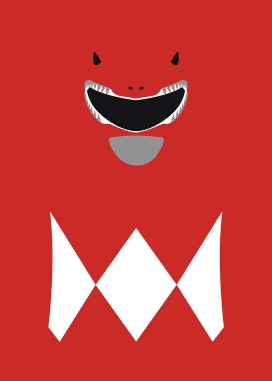 Power Rangers - Red Ranger Minimalist Art Print