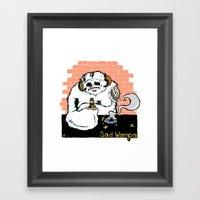 Sad Wampa Framed Art Print