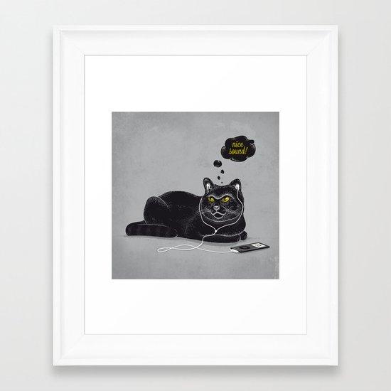 Chilling Cat Framed Art Print