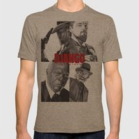 Django Unchained Mens Fitted Tee Tri-Coffee SMALL